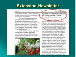 extension newsletter