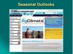 seasonal outlooks