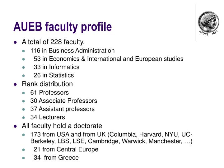 AUEB faculty profile