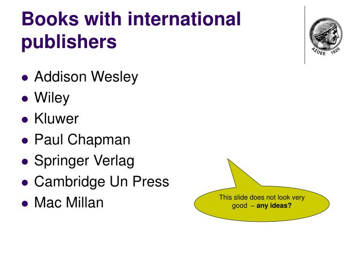 Books with international publishers