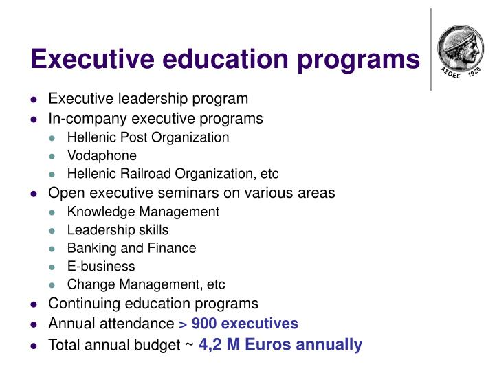 Executive education programs