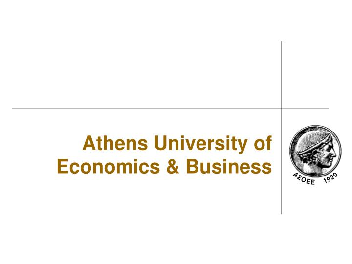 Athens University of Economics & Business