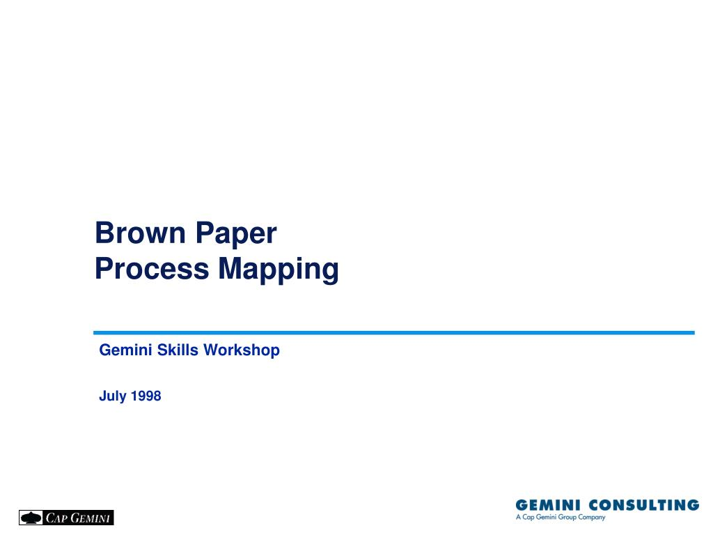ppt brown paper process mapping powerpoint presentation id 1086515