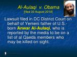 al aulaqi v obama filed 30 august 2010