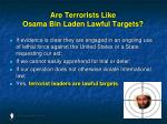 are terrorists like osama bin laden lawful targets142