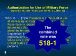 authorization for use of military force september 18 2001 public law 107 40 s j res 2348
