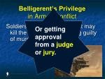 belligerent s privilege in armed conflict128