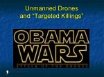 unmanned drones and targeted killings