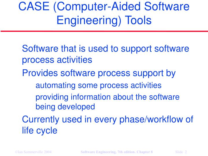 Case computer aided software engineering tools