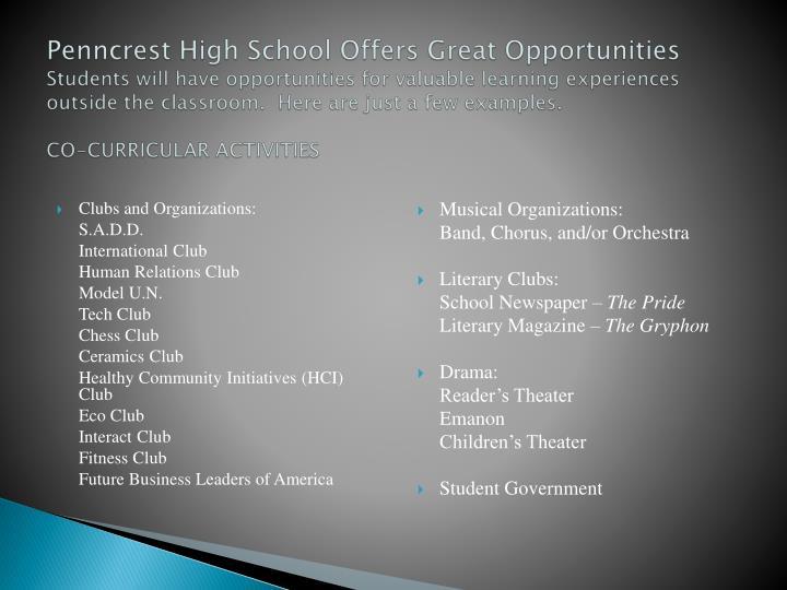 Penncrest High School Offers Great Opportunities