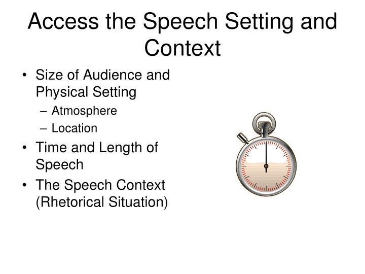 Access the Speech Setting and Context