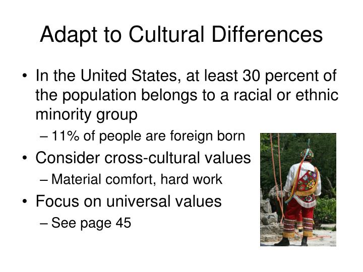 Adapt to Cultural Differences