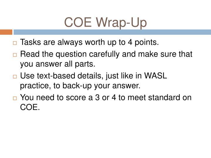 COE Wrap-Up