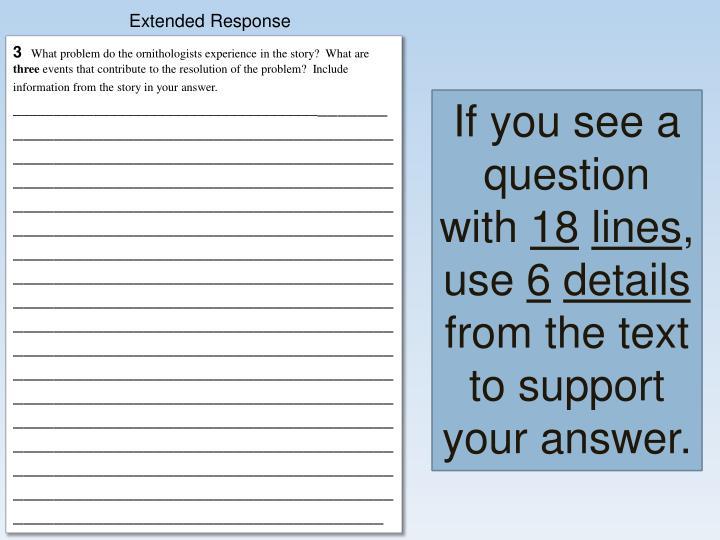 Extended Response