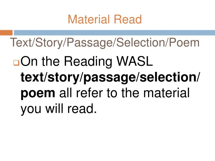 Text/Story/Passage/Selection/Poem