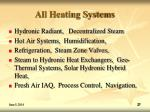 all heating systems