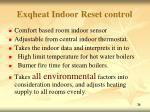 exqheat indoor reset control
