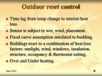 outdoor reset control