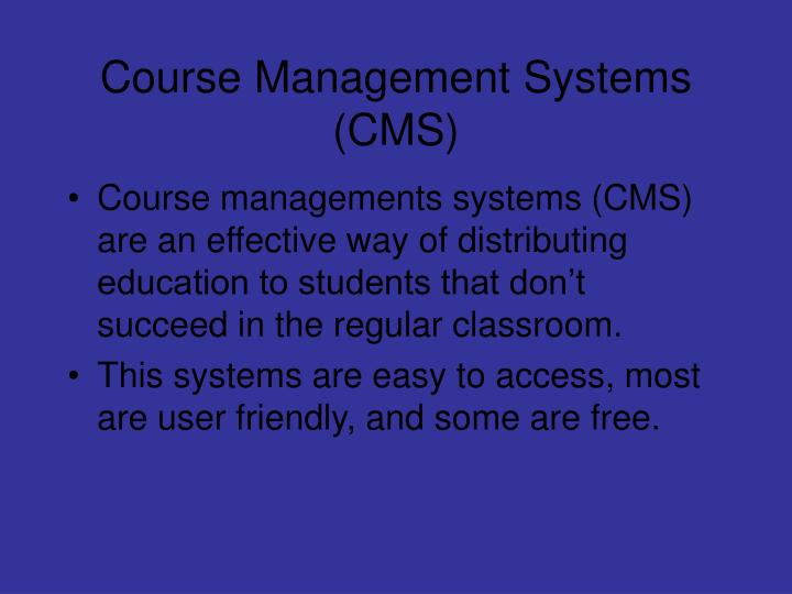 Course management systems cms