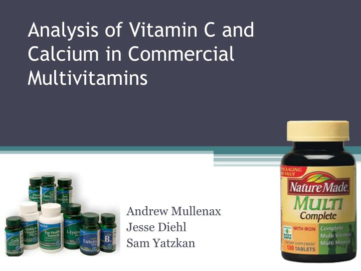 analysis of commercial vitamin c tablet essay Vitamin c megadosage is a term describing the consumption or injection of vitamin c in doses comparable to or higher than the amounts produced by the livers of mammals which are able to synthesize vitamin c.