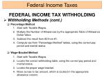 federal income tax withholding12
