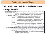 federal income tax withholding5