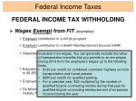 federal income tax withholding6