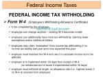 federal income tax withholding9