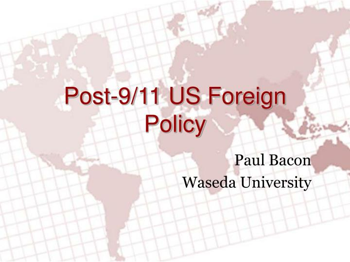 post 9 11 us foreign policy n.