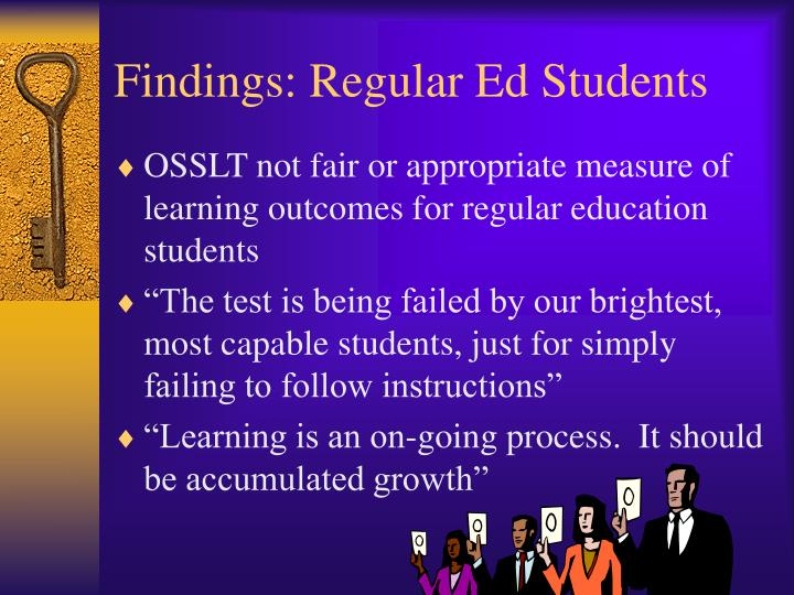 Findings: Regular Ed Students