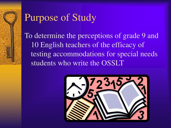 Purpose of study1