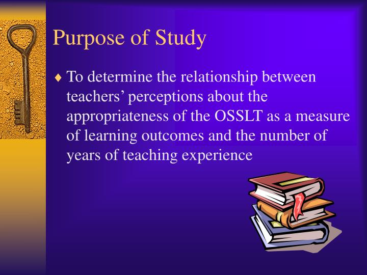Purpose of Study