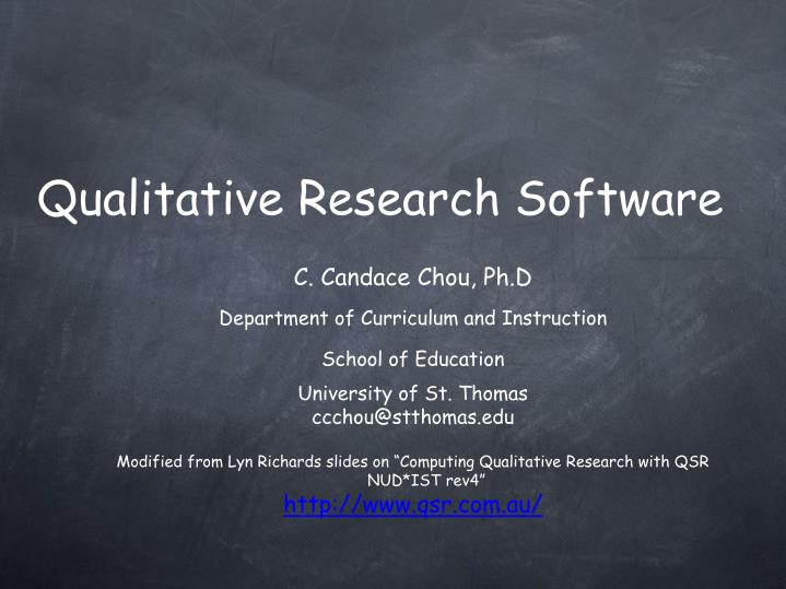 qualitative research software n.