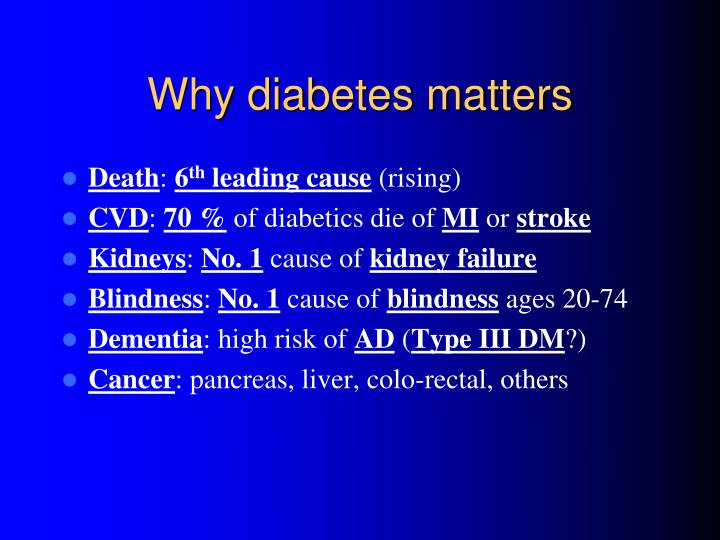 Why diabetes matters