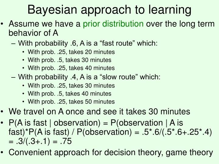 Bayesian approach to learning