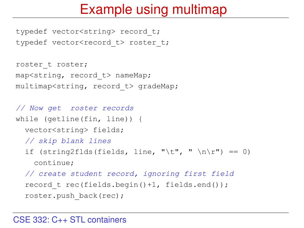 PPT - Intro to the C++ Standard Template Library (STL