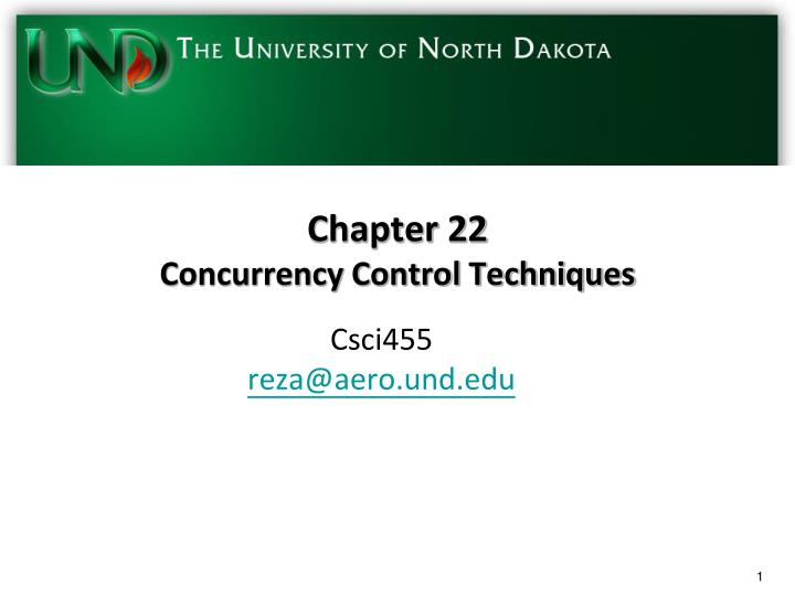 chapter 22 concurrency control techniques n.