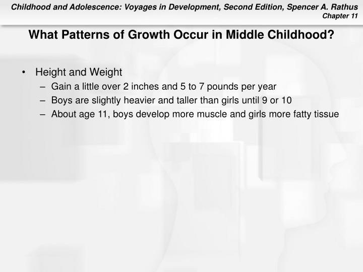 What Patterns of Growth Occur in Middle Childhood?