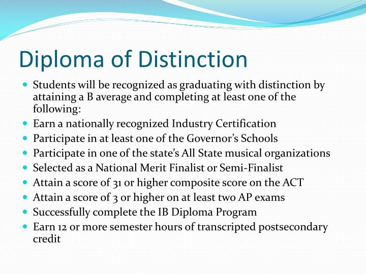 Diploma of Distinction