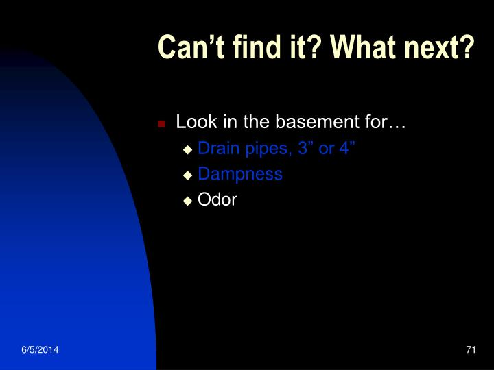 Can't find it? What next?