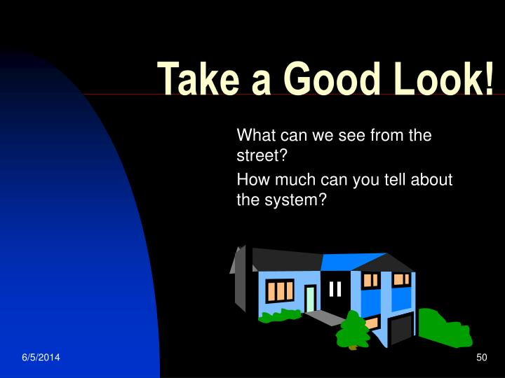 Take a Good Look!