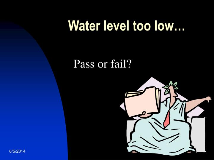Water level too low…