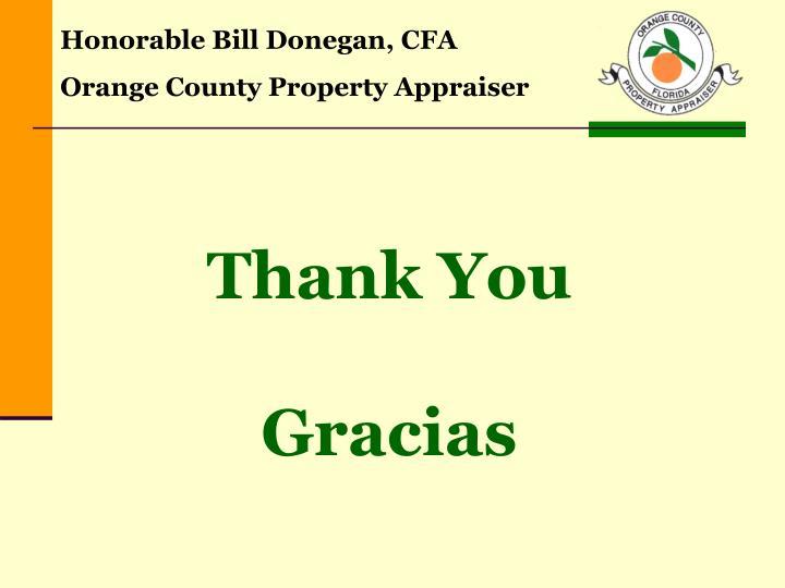Honorable Bill Donegan, CFA