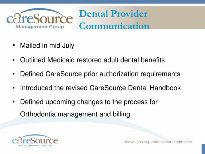 Ppt Caresource Dental Program September 9 2008 1200 100