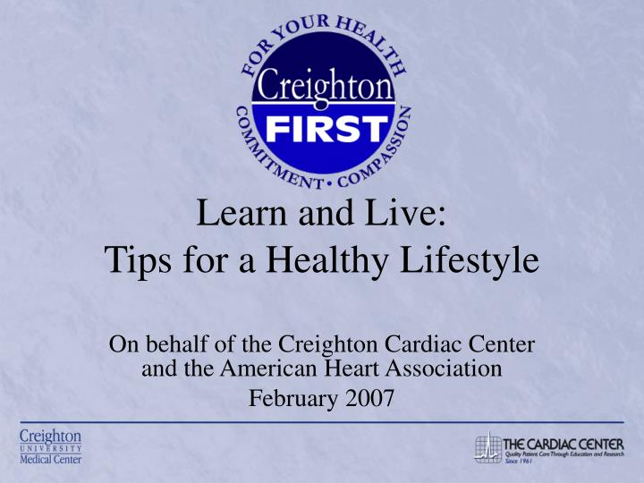 learn and live tips for a healthy lifestyle n.