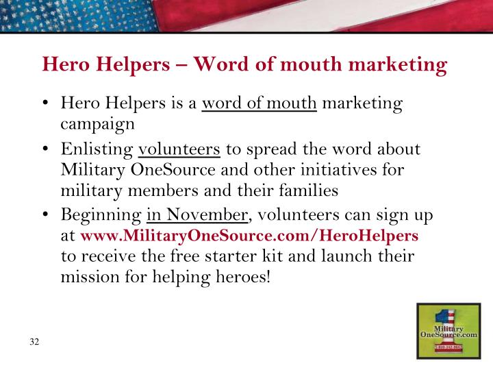 Hero Helpers – Word of mouth marketing