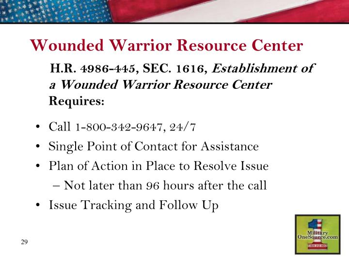 Wounded Warrior Resource Center