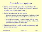 event driven systems