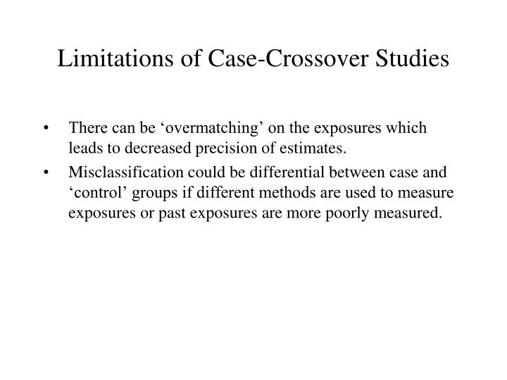 Limitations of Case-Crossover Studies