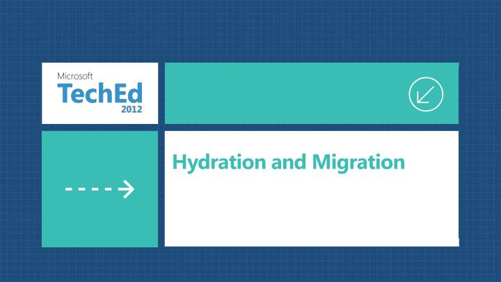 Hydration and Migration